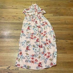 Boho Halter Floral Maxi Dress   Lush size: M